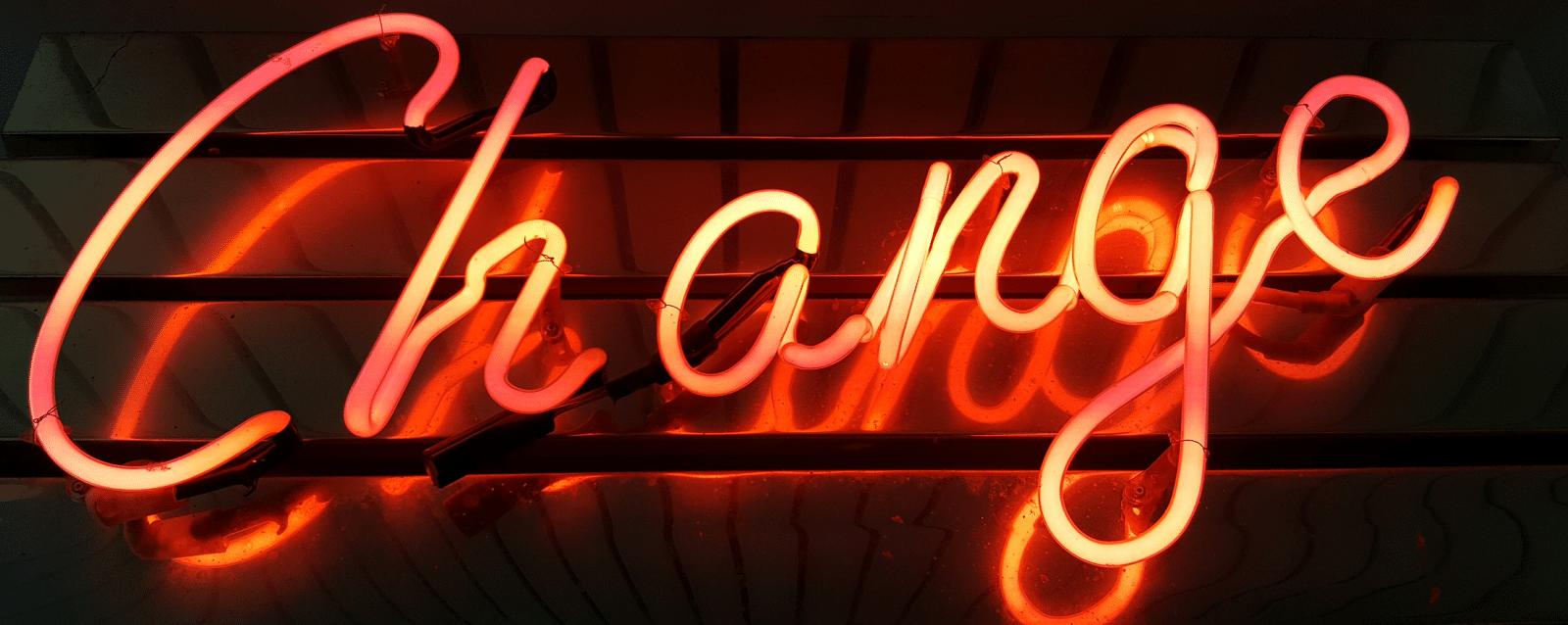 restructuration d'entreprise néon rouge