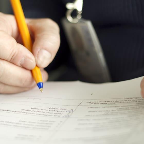 remplir questionnaire papier