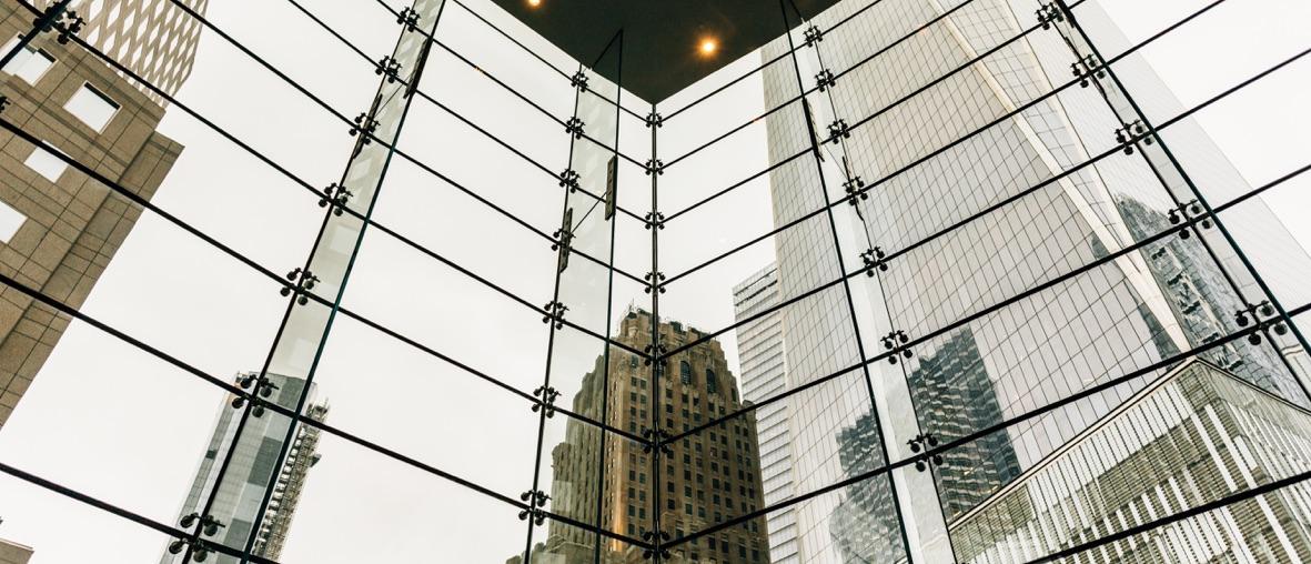 immeuble vitré bureau d'affaires banque assurance